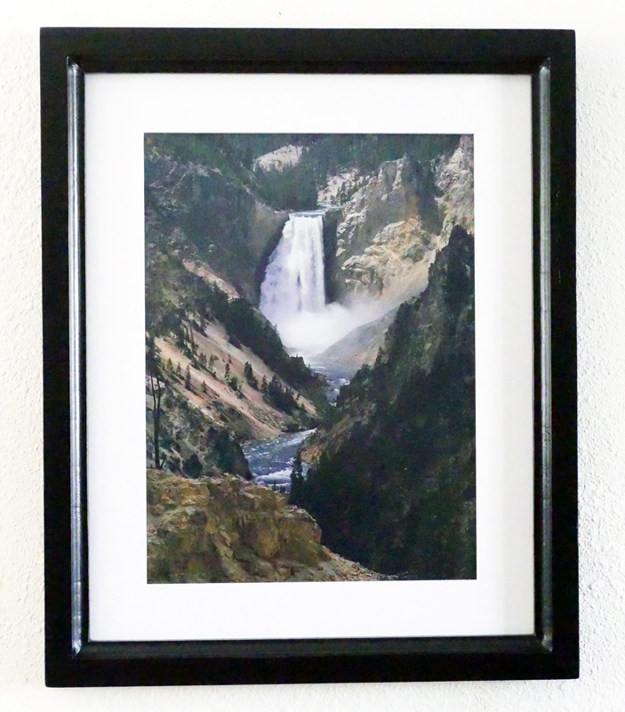 Yellowstone National Park Custom Framed Art Print Lower Falls Of The Yellowstone